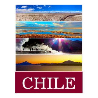 chile natural views postcard