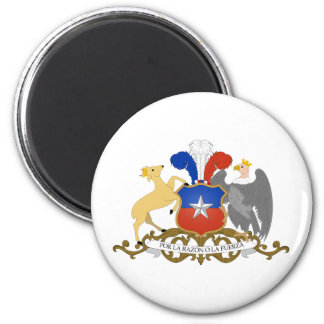 Chile Official Coat Of Arms Heraldry Symbol 2 Inch Round Magnet