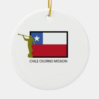 Chile Osorno Mission LDS CTR Ceramic Ornament
