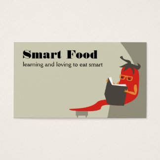 chile pepper reading smart food business cards