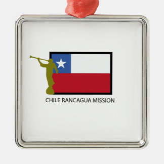 Chile Rancagua Mission LDS CTR Silver-Colored Square Ornament