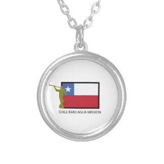 Chile Rancagua Mission LDS CTR Silver Plated Necklace
