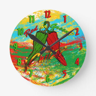 Chile - Red or Green? Wallclock