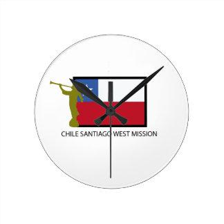 Chile Santiago West Mission LDS CTR Wallclock