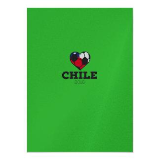 "Chile Soccer Shirt 2016 5.5"" X 7.5"" Invitation Card"