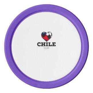 Chile Soccer Shirt 2016 Set Of Poker Chips