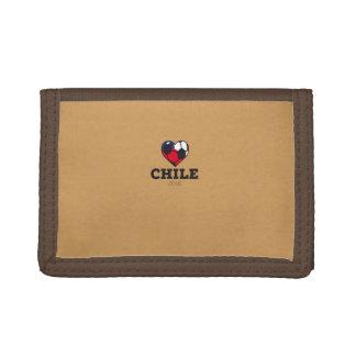 Chile Soccer Shirt 2016 Tri-fold Wallet