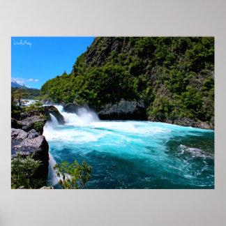 Chile Waterfall - Petrohue Falls Poster