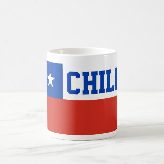 Chile World Flag Text Basic White Mug