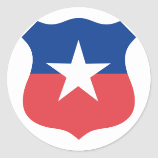 Chilean Air Force roundel, Chile Round Sticker
