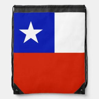 Chilean Flag Drawstring Backpack