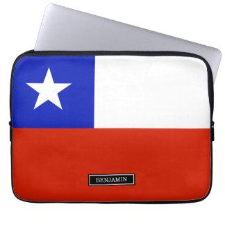 Chilean Flag Laptop Computer Sleeve