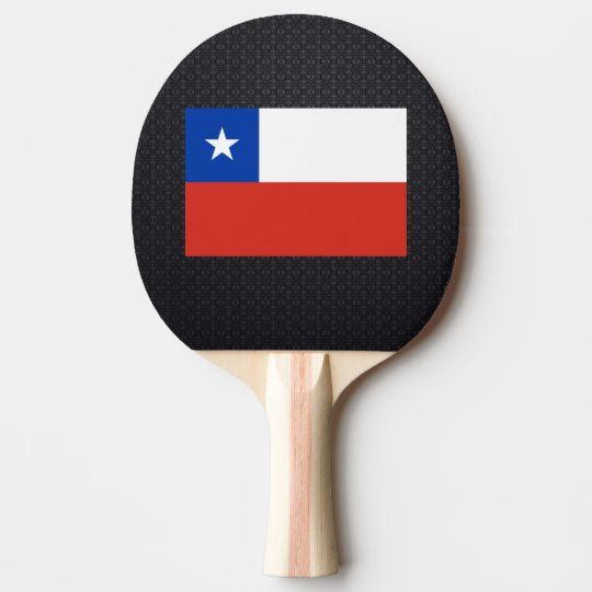 Chilean flag ping pong paddle