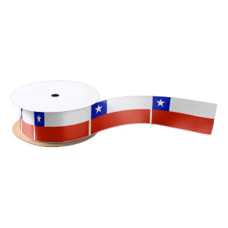 Chilean Flag Satin Ribbon