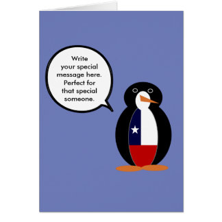 Chilean Talking Mr. Penguin Card