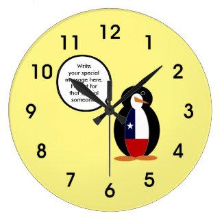 Chilean Talking Mr. Penguin Large Clock
