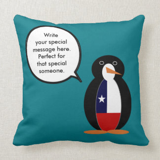 Chilean Talking Mr. Penguin Throw Pillow