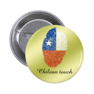Chilean touch fingerprint flag 2 inch round button