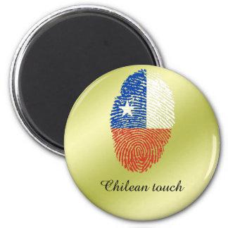 Chilean touch fingerprint flag 2 inch round magnet