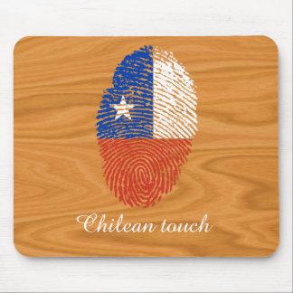 Chilean touch fingerprint flag mouse pad