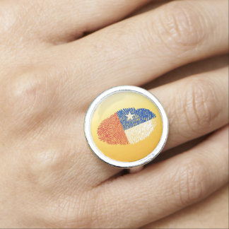 Chilean touch fingerprint flag ring