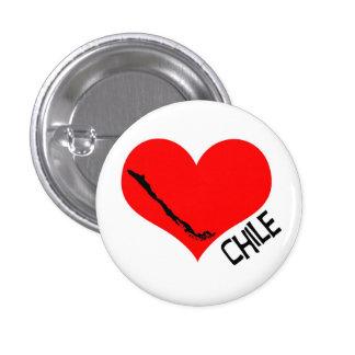 Chileheartbutton 1 Inch Round Button