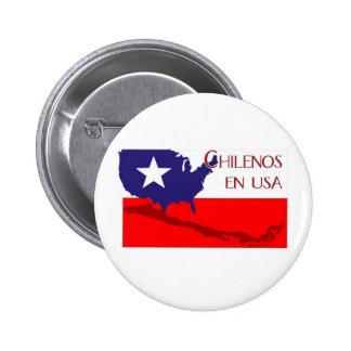 ChilenosUSALogo4 2 Inch Round Button