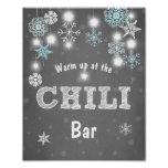 Chili Bar sign Blue Winter snowflakes Chilly Boy