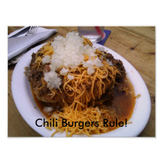 Chili Burger Poster