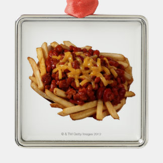 Chili cheese fries metal ornament