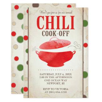 Chili Contest Invitations ~ BBQ Invite