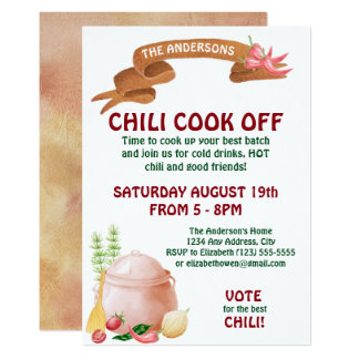 Chili Cook Off Invitation