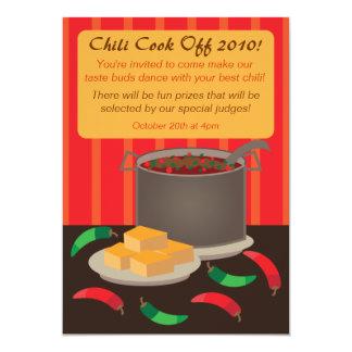 """Chili Cook Off Invitation Announcement 5"""" X 7"""" Invitation Card"""