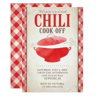 Chili Cook Off Invitations ~ BBQ Invite