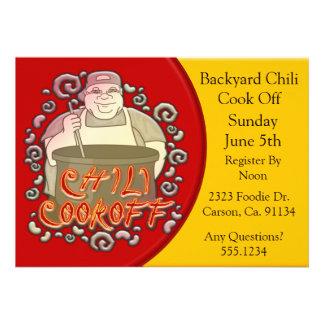 Chili Cook Off Stirring The Pot Custom Invitation