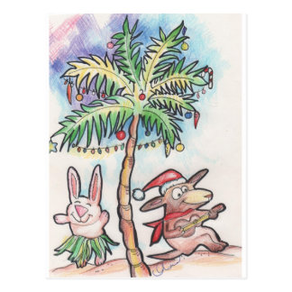 Chili Dog plays the ukulele at Christmas Postcard
