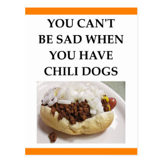 CHILI DOG POSTCARD