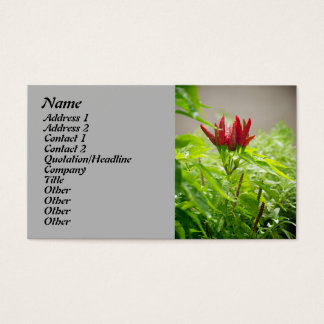 Chili flower business card
