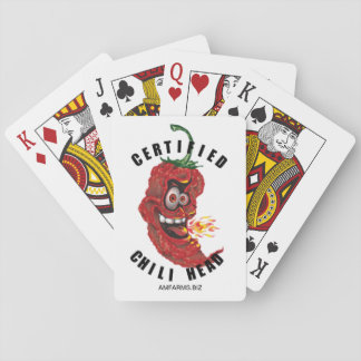 Chili Head Playing Cards