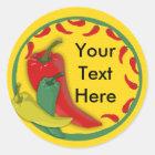 Chili Pepper Classic Round Sticker