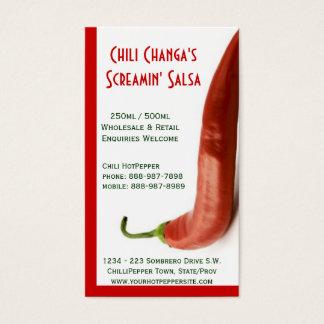 Chili Pepper Hot Red Pepper Salsa Business Card