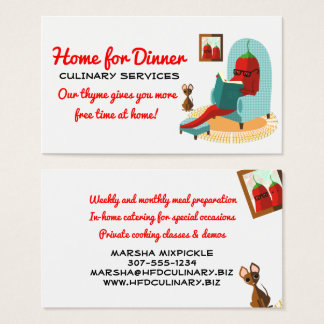 Chili pepper Mexican food catering business card