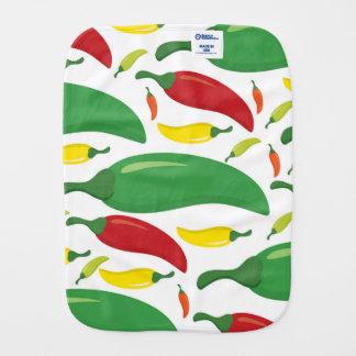 Chili pepper pattern burp cloth