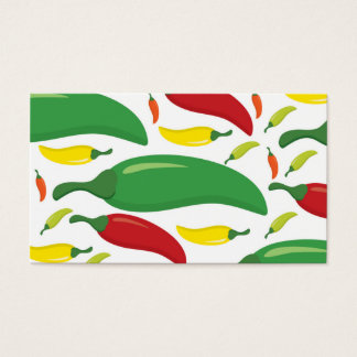 Chili pepper pattern business card