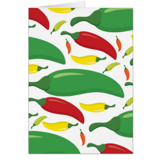 Chili pepper pattern card