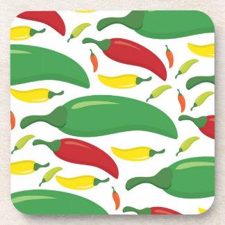Chili pepper pattern coaster