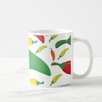 Chili pepper pattern coffee mug