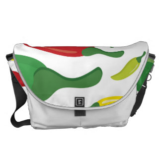 Chili pepper pattern commuter bags
