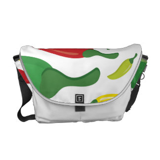 Chili pepper pattern courier bags