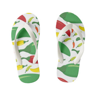 Chili pepper pattern kid's flip flops